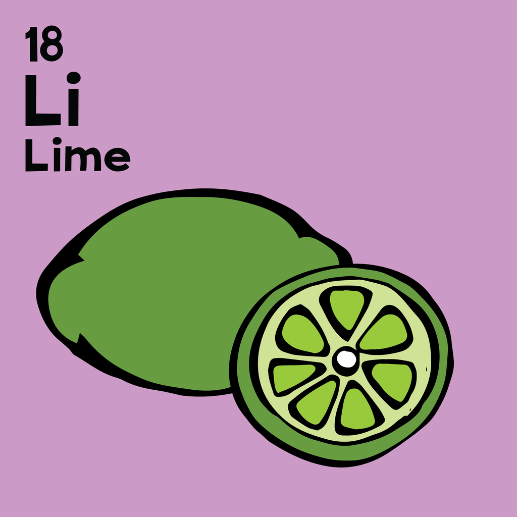 Lime - The Food Table - Unframed 12x12 Print