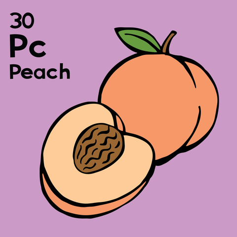 Peach - The Food Table - Unframed 12x12 Print