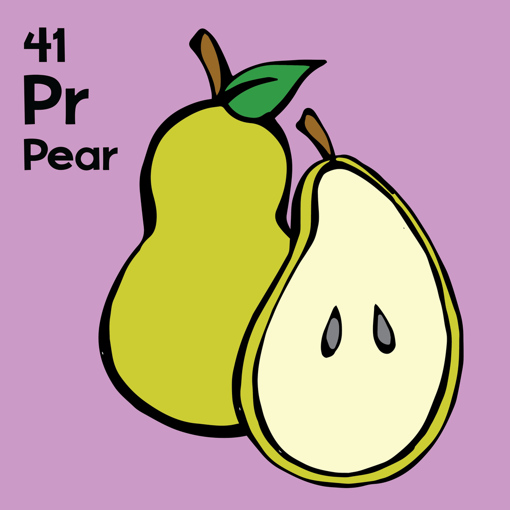 Pear - The Food Table - Unframed 12x12 Print