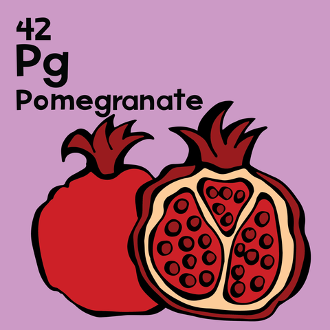 Pomegranate - The Food Table - Unframed 12x12 Print
