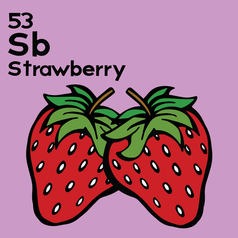 Strawberry - The Food Table - Unframed 12x12 Print