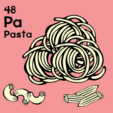 Pasta - The Food Table - Unframed 12x12 Print