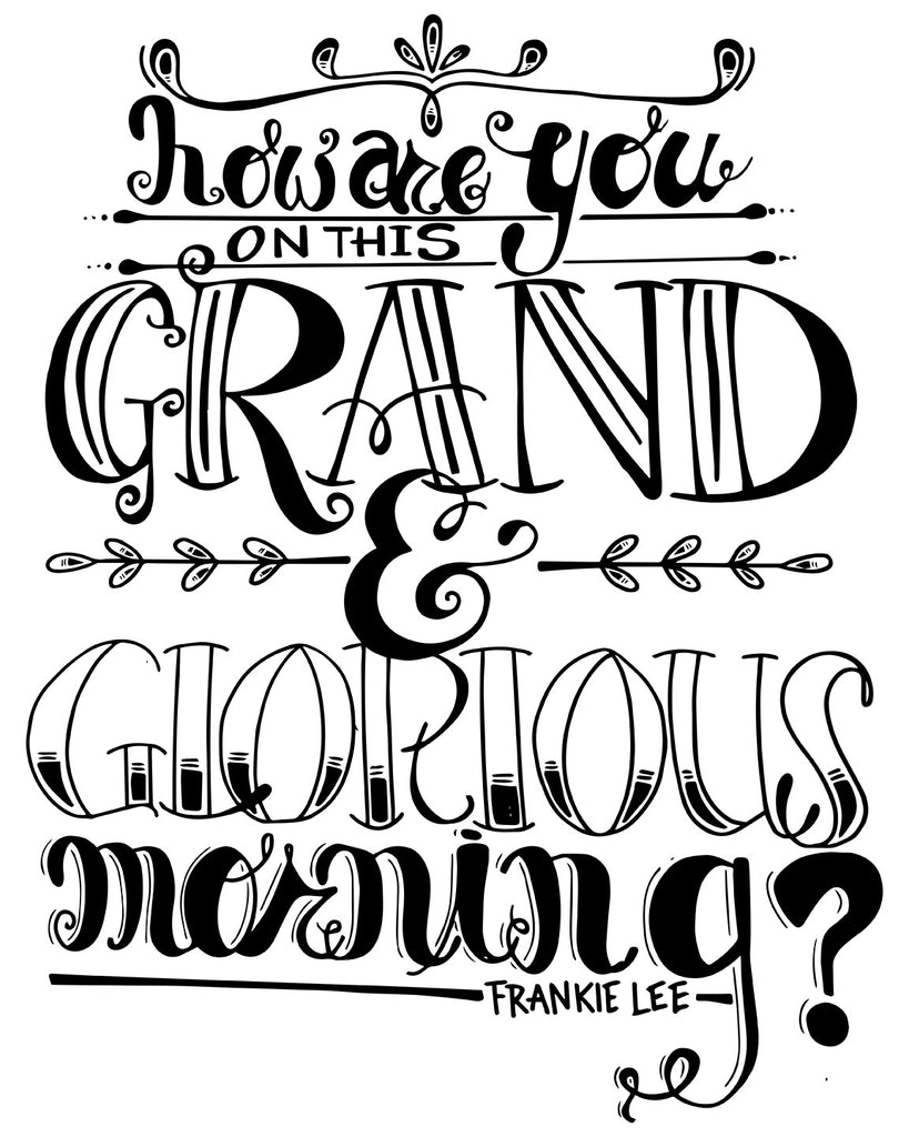 Grand and Glorious Morning Poster