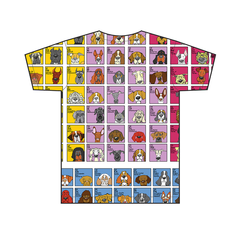 Cropped Harlequin Great Dane - The Dog Table All-Over-Printing Tee