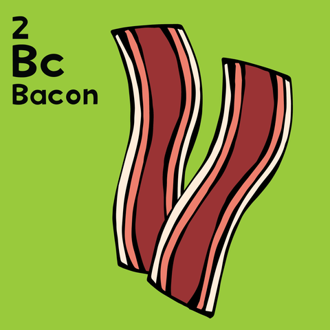 Bacon - The Food Table - Unframed 12x12 Print