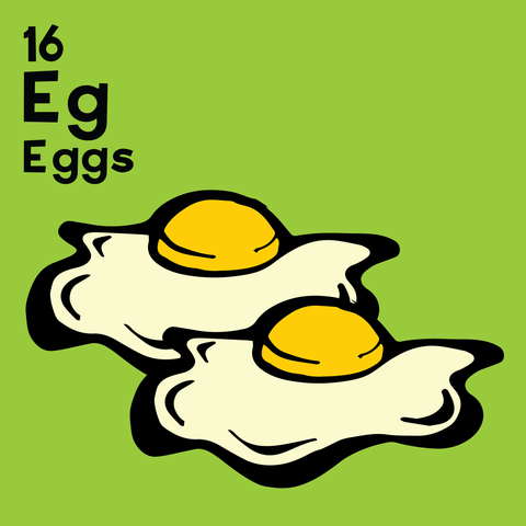 Eggs - The Food Table - Unframed 12x12 Print