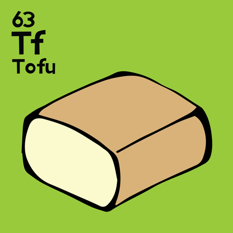 Tofu - The Food Table - Unframed 12x12 Print