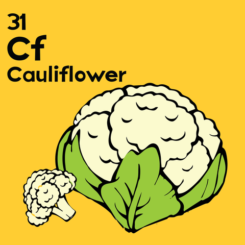 Cauliflower - The Food Table - Unframed 12x12 Print