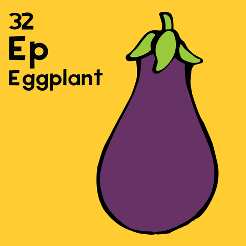 Eggplant - The Food Table - Unframed 12x12 Print