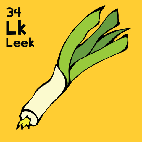 Leeks - The Food Table - Unframed 12x12 Print