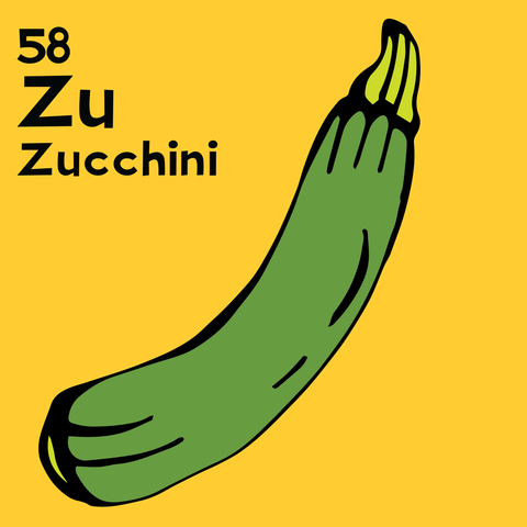 Zucchini - The Food Table - Unframed 12x12 Print