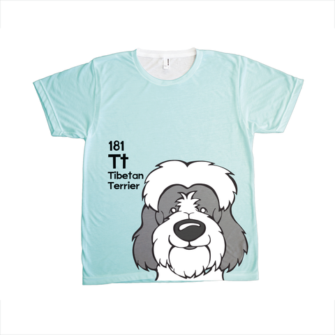 Tibetan Terrier - The Dog Table All-Over-Printing Tee