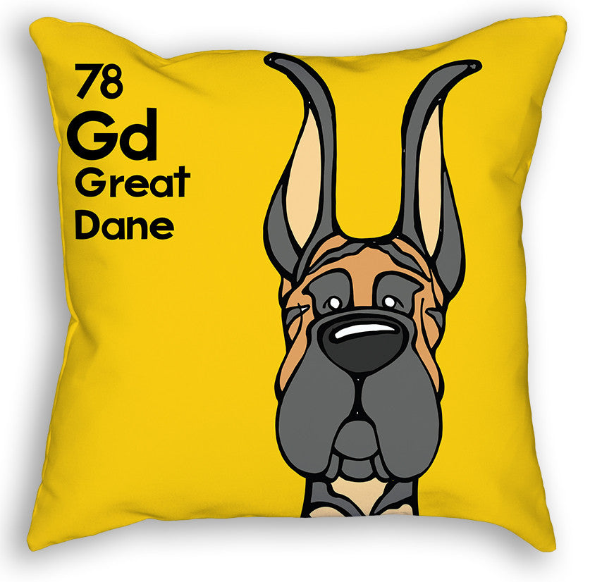Brindle Great Dane Cropped Ears Pillow