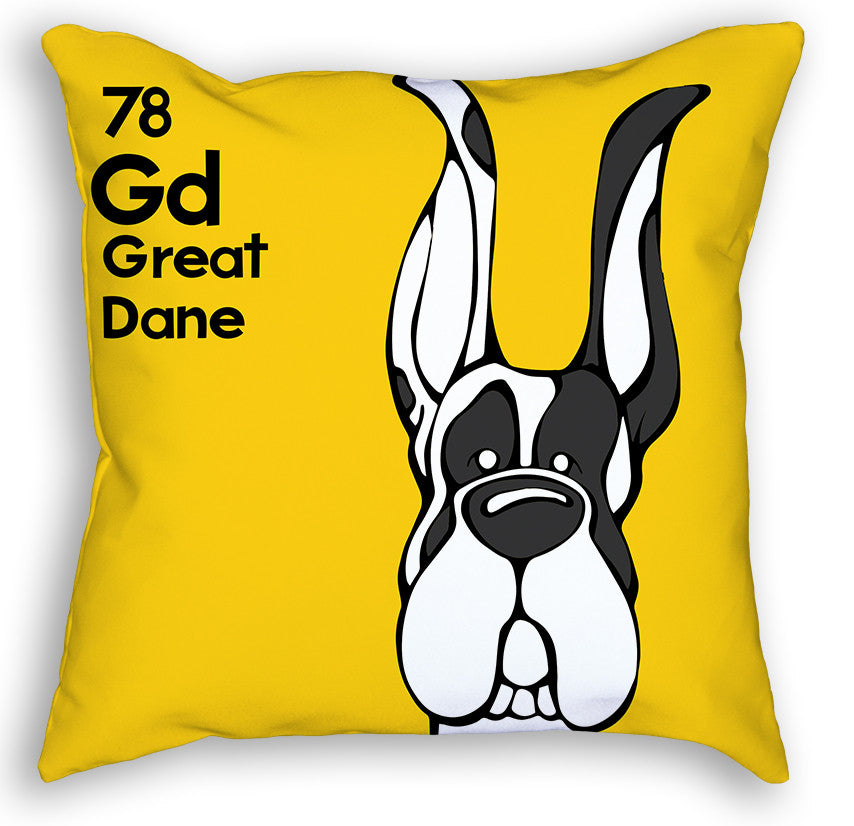 Harlequin Great Dane Cropped Ears Pillow