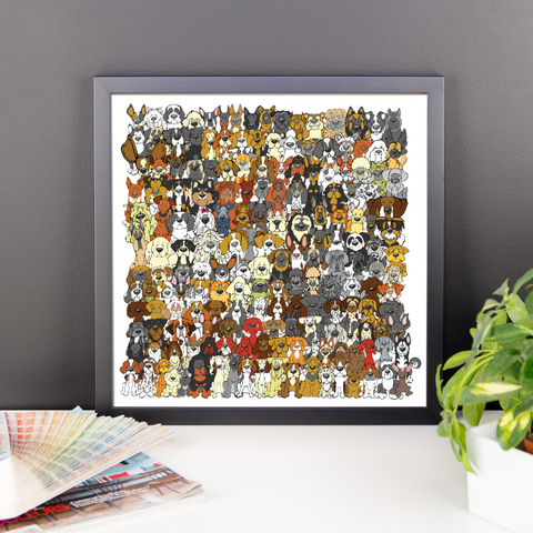 """Find the Panda"" Dog Edition Framed Print"