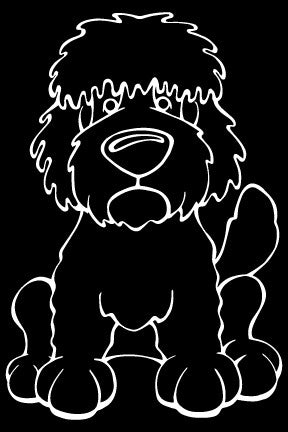 Goldendoodle Decal Dog