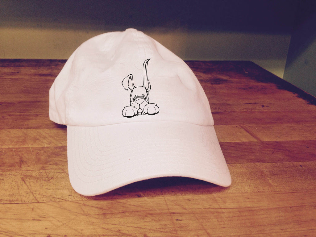Great Dane, Up-Down Ears - Paws Embroidered Cap