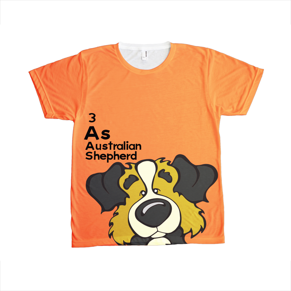 Australian Shepherd - The Dog Table All-Over-Printing Tee