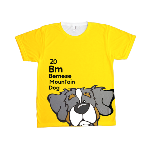 Bernese Mountain Dog - The Dog Table All-Over-Printing Tee