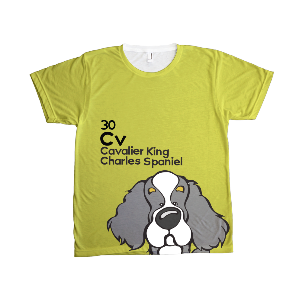 Cavalier King Charles Spaniel - The Dog Table All-Over-Printing Tee