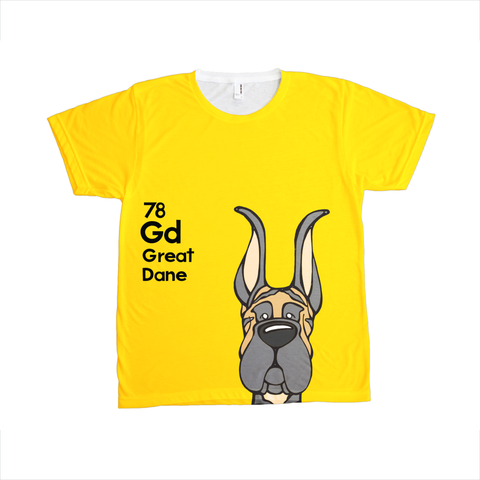 Cropped Brindle Great Dane - The Dog Table All-Over-Printing Tee
