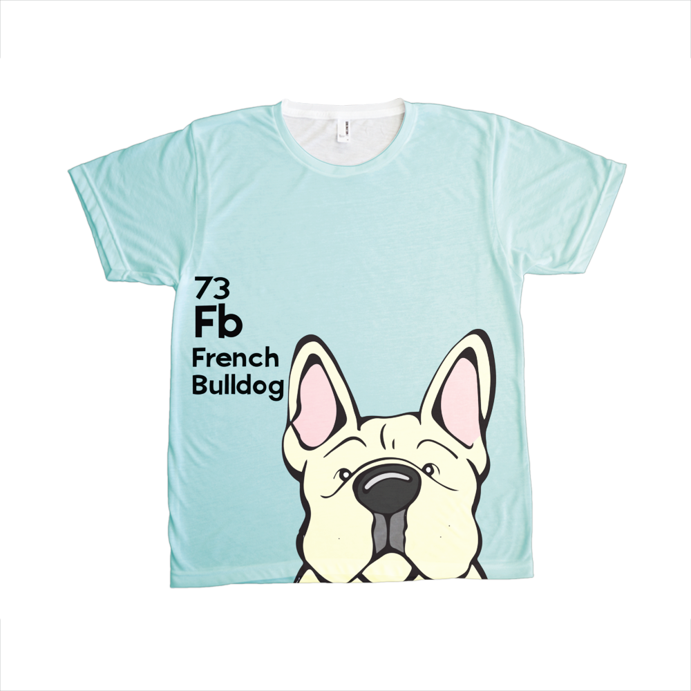French Bulldog - The Dog Table All-Over-Printing Tee
