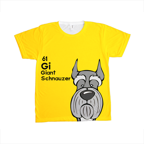 Giant Schnauzer - The Dog Table All-Over-Printing Tee