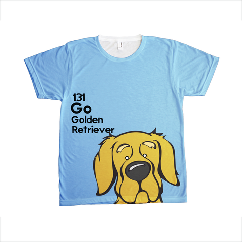 Golden Retriever - The Dog Table All-Over-Printing Tee