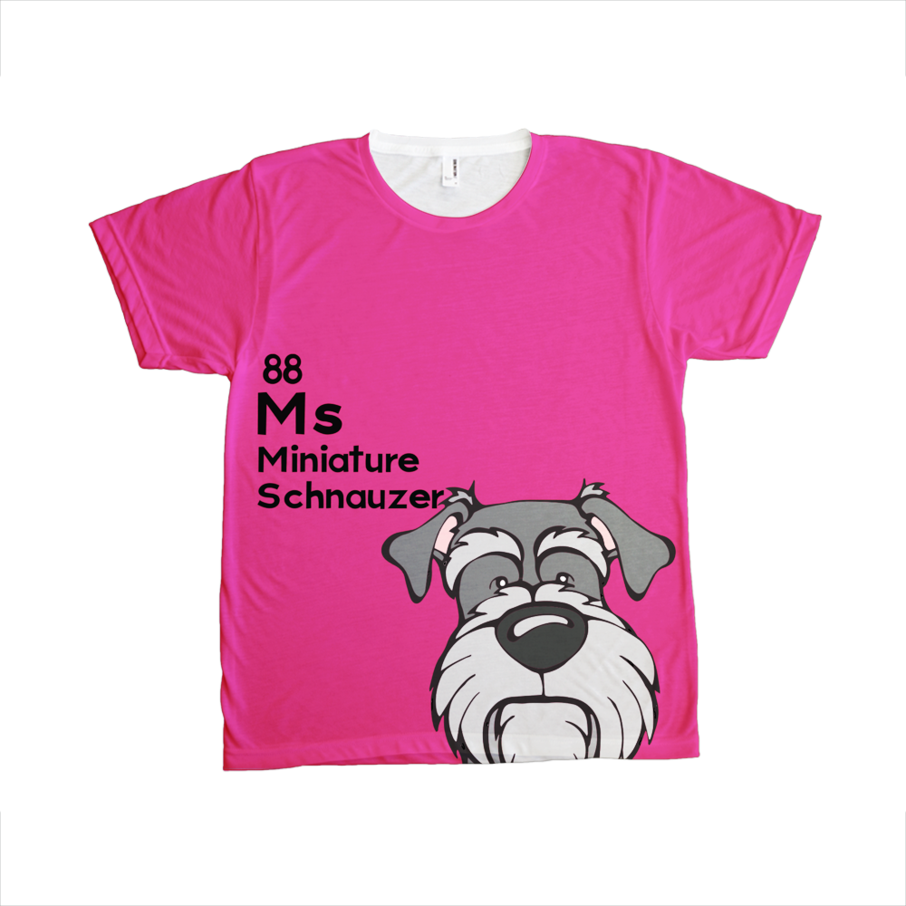 Miniature Schnauzer - The Dog Table All-Over-Printing Tee