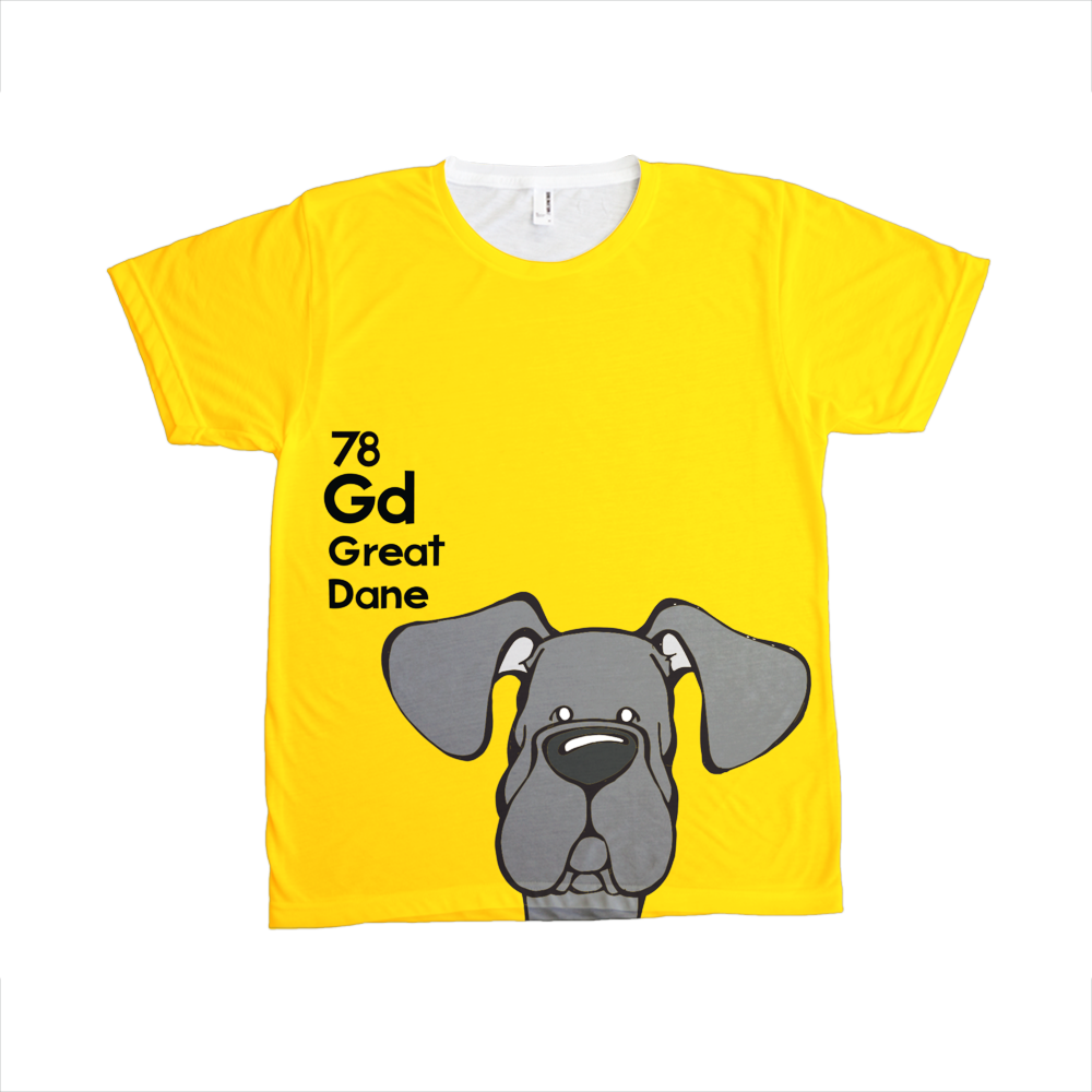Natural Black Great Dane - The Dog Table All-Over-Printing Tee