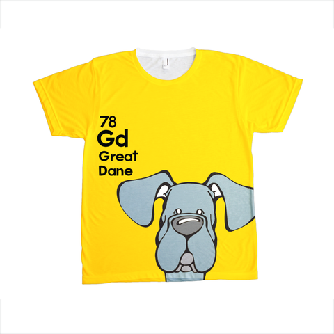 Natural Blue Great Dane - The Dog Table All-Over-Printing Tee