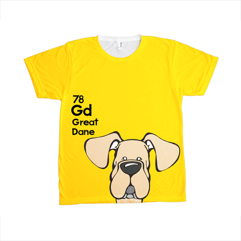 Natural Fawn Great Dane - The Dog Table All-Over-Printing Tee