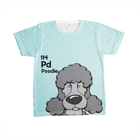 Poodle - The Dog Table All-Over-Printing Tee