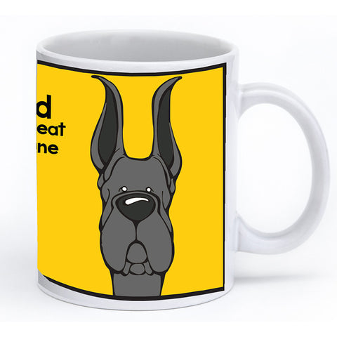 Black Great Dane Cropped Ears Mug