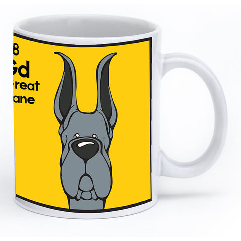 Blue Great Dane Cropped Ears Mug