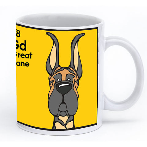 Black Great Dane (Cropped) Mug