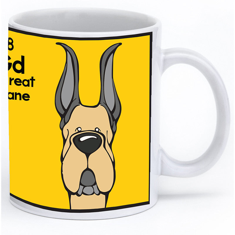 Fawn Great Dane Cropped Ears Mug