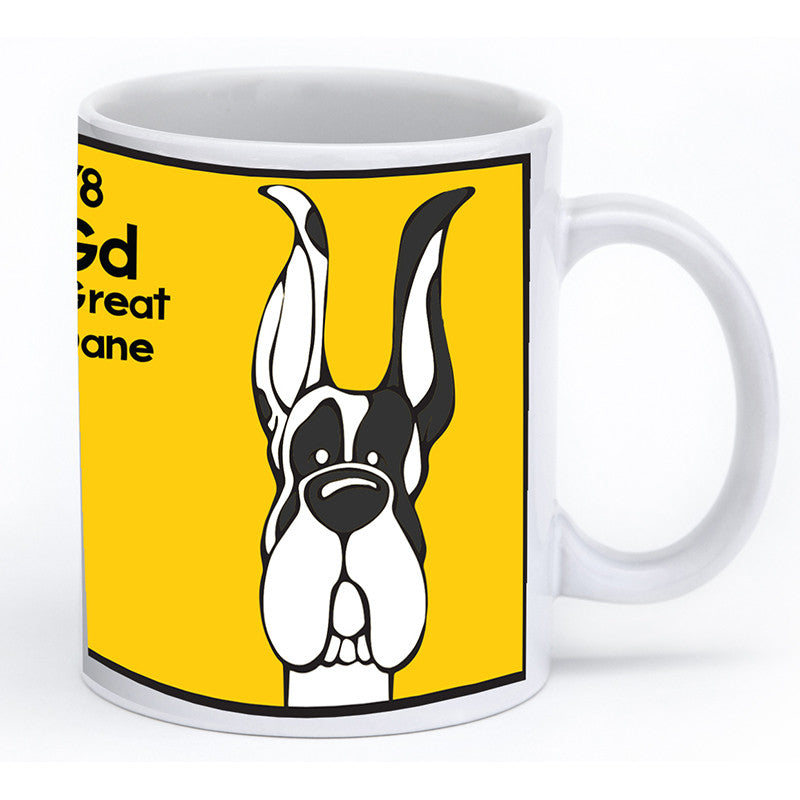 Harlequin Great Dane Cropped Ears Mug