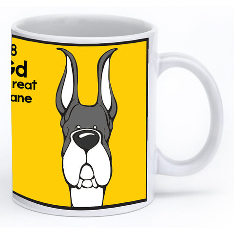 Mantle Great Dane Cropped Ears Mug