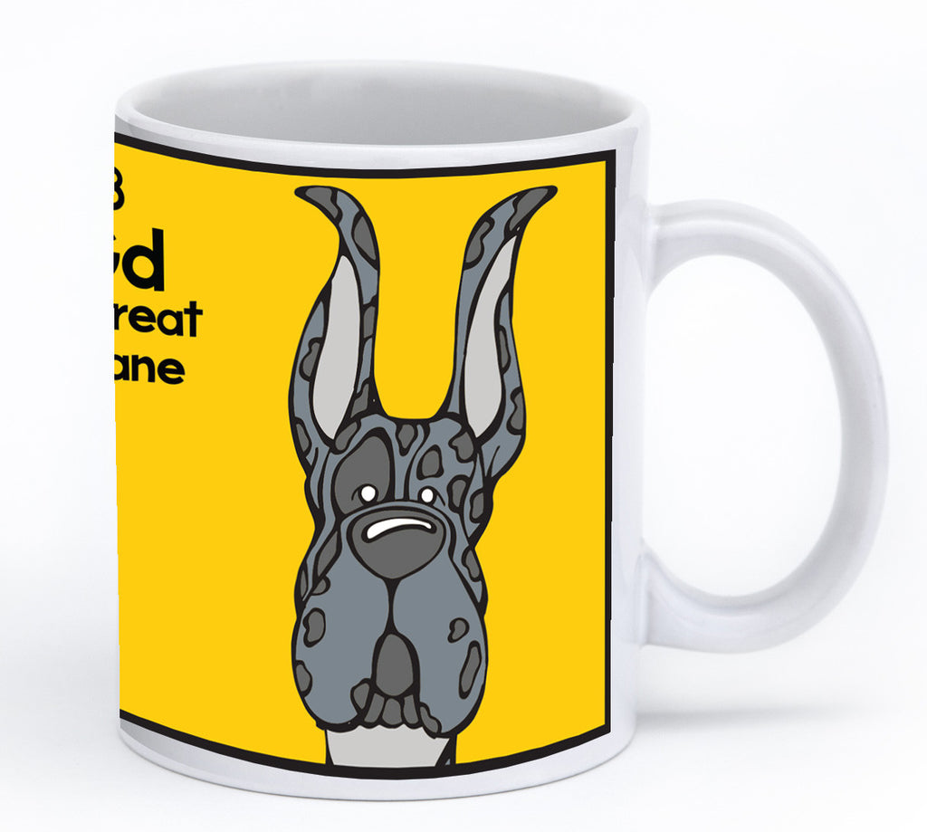 Merle Great Dane Cropped Ears Mug