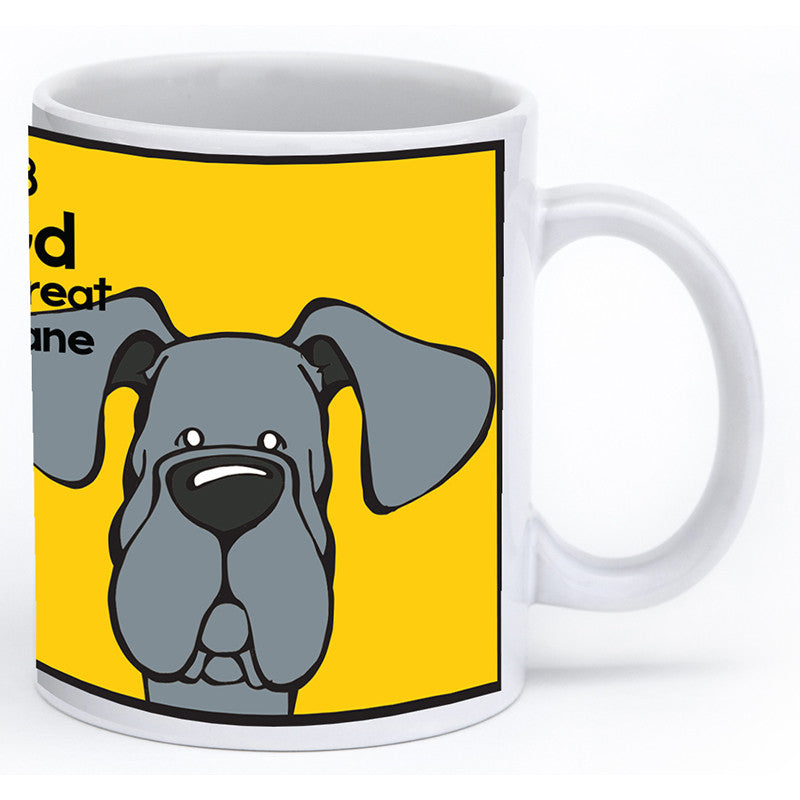 Blue Great Dane Natural Ears Mug