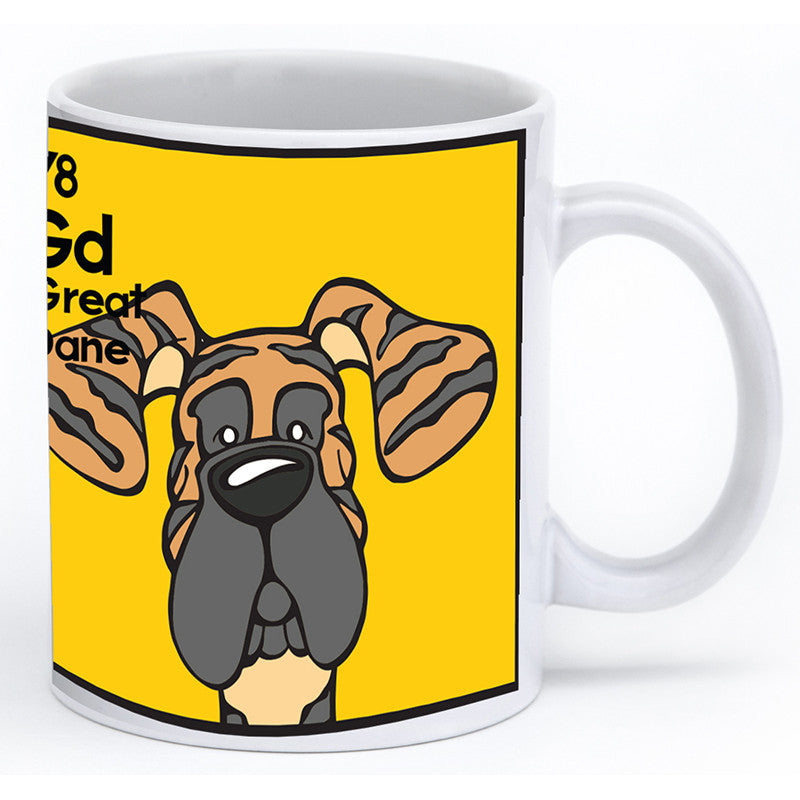 Brindle Great Dane Natural Ears Mug