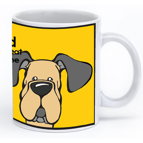 Fawn Great Dane Natural Ears Mug