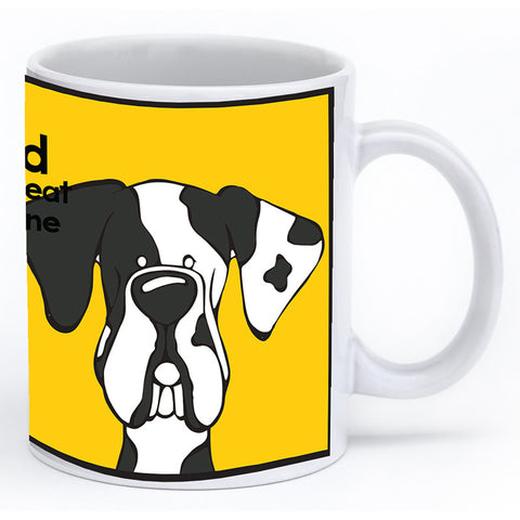 Harlequin Great Dane Natural Ears Mug