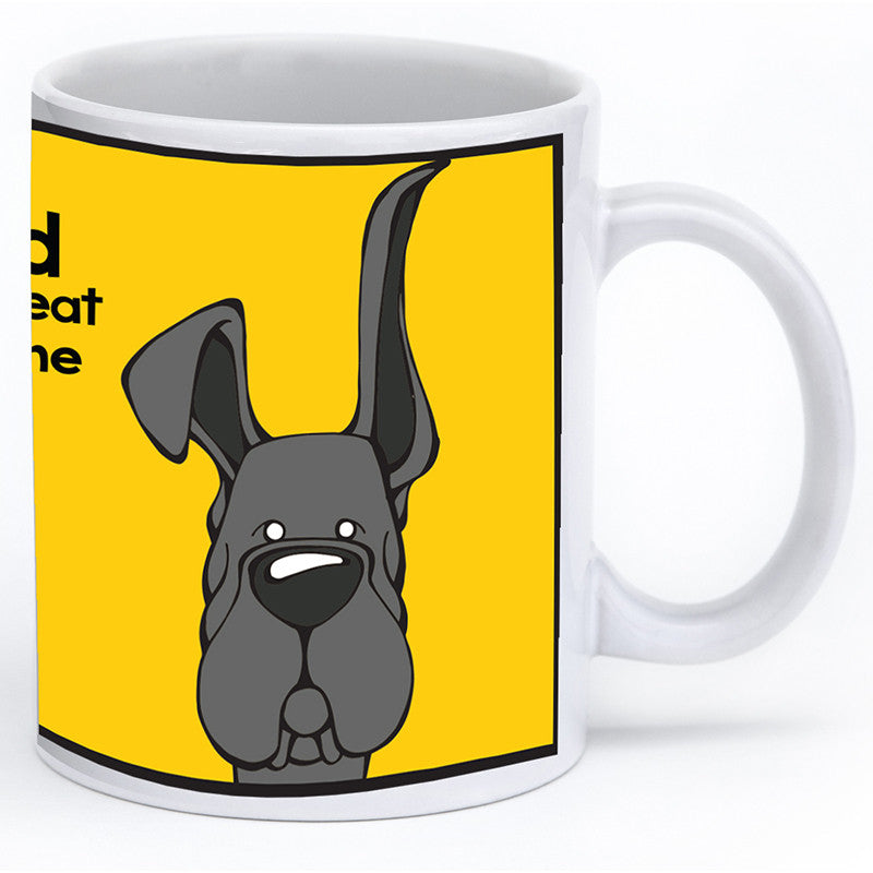 Black Great Dane Up & Down Ears Mug