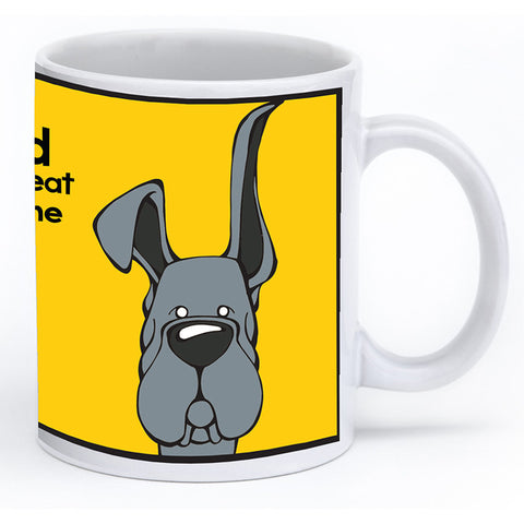Blue Great Dane Up & Down Ears Mug