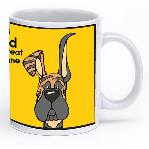 Brindle Great Dane Up & Down Ears Mug