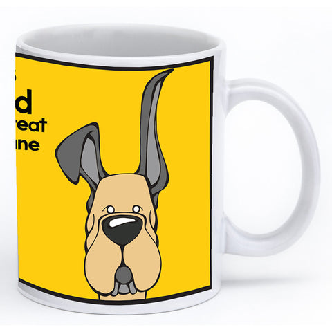 Fawn Great Dane Up & Down Ears Mug