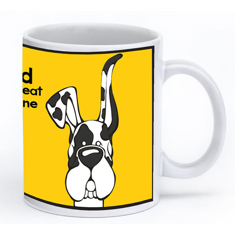 Harlequin Great Dane Up & Down Ears Mug