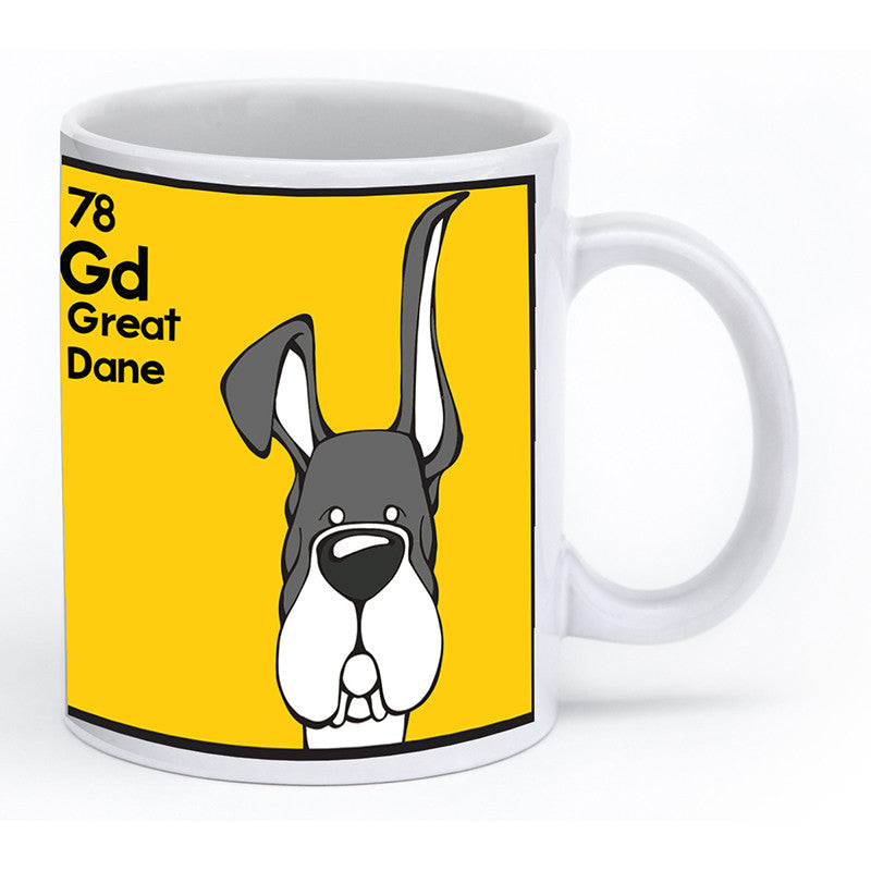 Mantle Great Dane Up & Down Ears Mug